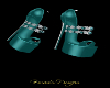 CLARICE PUMPS - TEAL