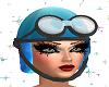 Blue Casco Moto Racer