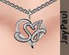 .J - S+J Heart Necklace