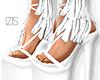 I│Fringed Heels White