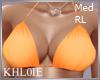K orange bikini top RL