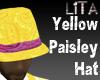 Yellow Paisley Hat