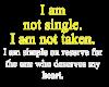 I am not Single