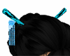 Teal Chopsticks /no hair