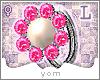 Y{ Pearl Diamond Ring L}