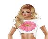 Pink Flower Crop Top