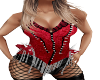 Spiked Red Corset chain