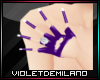PURPLE GLOVES WITH NAILS