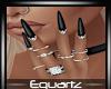 Rein Black Diamond Nails