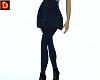 {DP} Navy Plaid Skirt