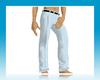 blue stripped slacks