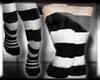 Smexy Long Socks/Blk-Wht