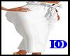High waist pants white
