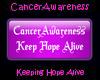 CA Pink Keep Hope Alive