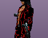 Black/Red Tribal suit
