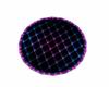 Round Neion rug D10