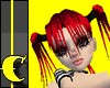 Emo Crimson Pigtails