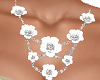 White Flowers Necklace