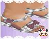 +Dusty Plaid Sandals