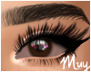 m. Irritated brown eyes