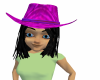 JB~ PURPLE COWGIRL HAT