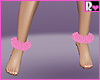 Fur Ankle Cuffs Pink