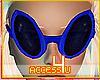 ! Blue Alien Sunglasses