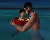 Daddy & Son Swim Pose