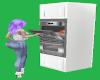 White Ani Double oven
