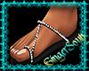 Black & Silver Sandal