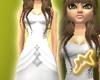 [M] Ruffle Gown White