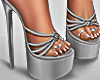 Summer Silver Grey Heels