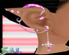 White/Pink Elf Earrings
