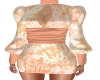 Glowing Peach Dress