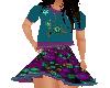 Flat Teal Flower Dress