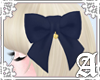 Lovely Ribbon Clip~ Navy
