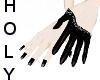 unique glam glove black