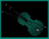 Cyan PVC- Violin Statue