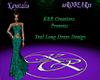 Teal Long Dress Design