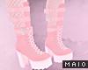 🅜 PINKU: strap boots