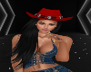 Red Cowgirl Hat