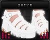 White Plateau Sandals