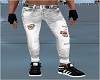 Skinny Jeans Blk/white