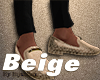 Beige Snake Skin Loafers