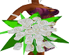 GldTip Whte Rose Bouquet