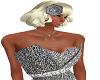 silver Flower head dress