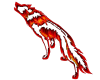 Wolf made of flames