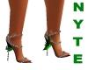 Black Green Evening Shoe