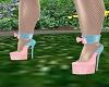 Pink/Blue Easter Heels
