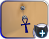 Ankh Blue Belly Ring